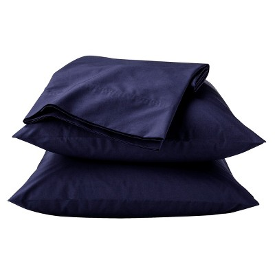 Classic Percale Sheet Set (King)Navy 300 Thread Count - Threshold™