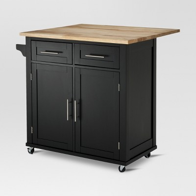 Large Kitchen Island with Wood Top and Storage Threshold Target