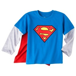 Superman Infant Toddler Boys' Long Sleeve Cape T-Shirt