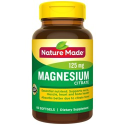 Nature Made Magnesium Citrate Dietary Supplement Liquid Softgels - 60ct