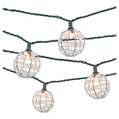 10ct Decorative String Lights-Metal Wire Round Cover with Plastic Beads - Threshold™