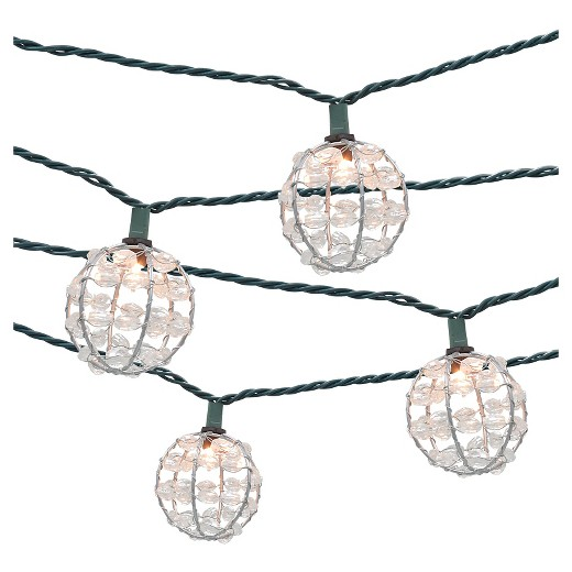 String Lights Patio Cover : 10ct Decorative String Lights-Metal Wire Round Cover with Plastic Beads - Threshold : Target