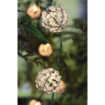 10ct decorative string lightsmetal wire round cover with plastic beads threshold - Decorative String Lights