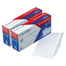 """50-ct Plain Peel Envelope 2 Pack - White (4.12""""X9.5"""")"""