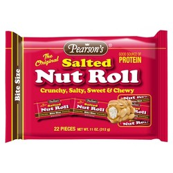 Pearson's Candy Salted Nut Roll Bite Size Candy Bars - 22ct