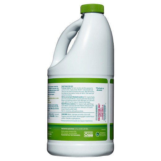 chlorine free bleach The green works chlorine-free bleach fights stains, whitens whites, and is safe on colors save time and money, order in bulk from cleanitsupplycom.