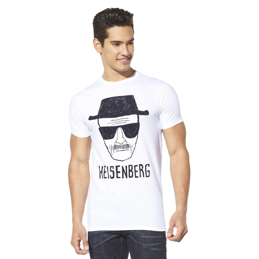 Men's S Breaking Bad Heisenberg T-Shirt, White