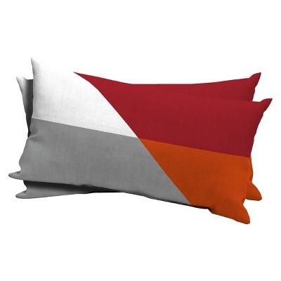 2-Piece Lumbar Pillow - Ripe Red - Room Essentials™