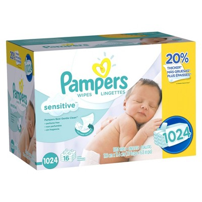 Pampers Sensitive Baby Wipes - 1,024 ct