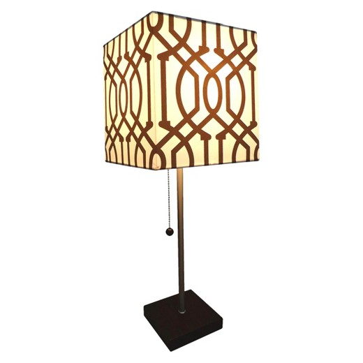 square shade stick lamp with wood base collection project 62 target. Black Bedroom Furniture Sets. Home Design Ideas