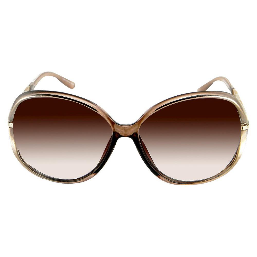 Oval Sunglasses - Tan, Womens