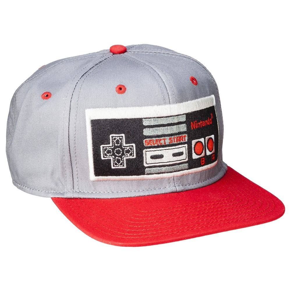 Mens Nintendo Baseball Hat, Dark Gray