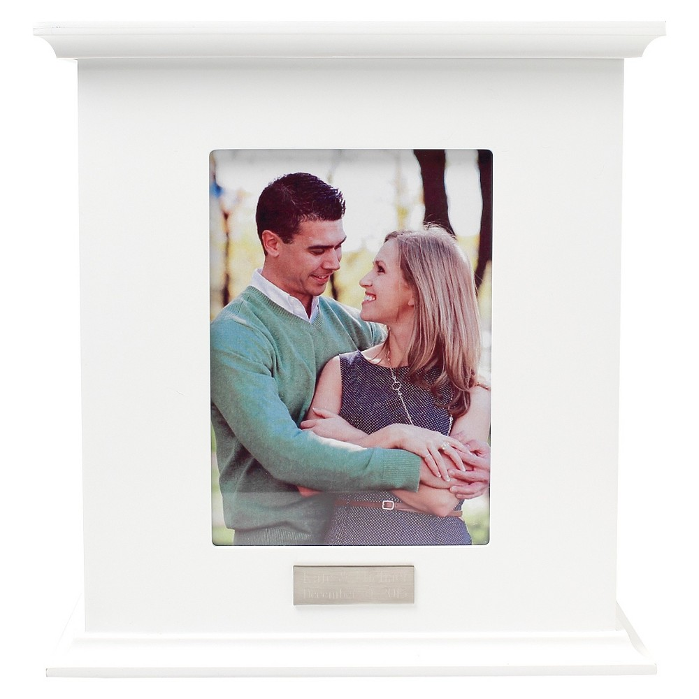 White Wedding Reception Card Holder Photo Box