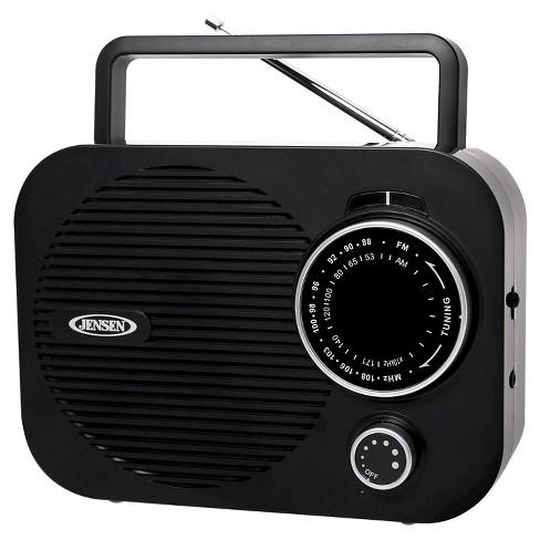 jensen am fm portable radio black mr 550 bk target. Black Bedroom Furniture Sets. Home Design Ideas