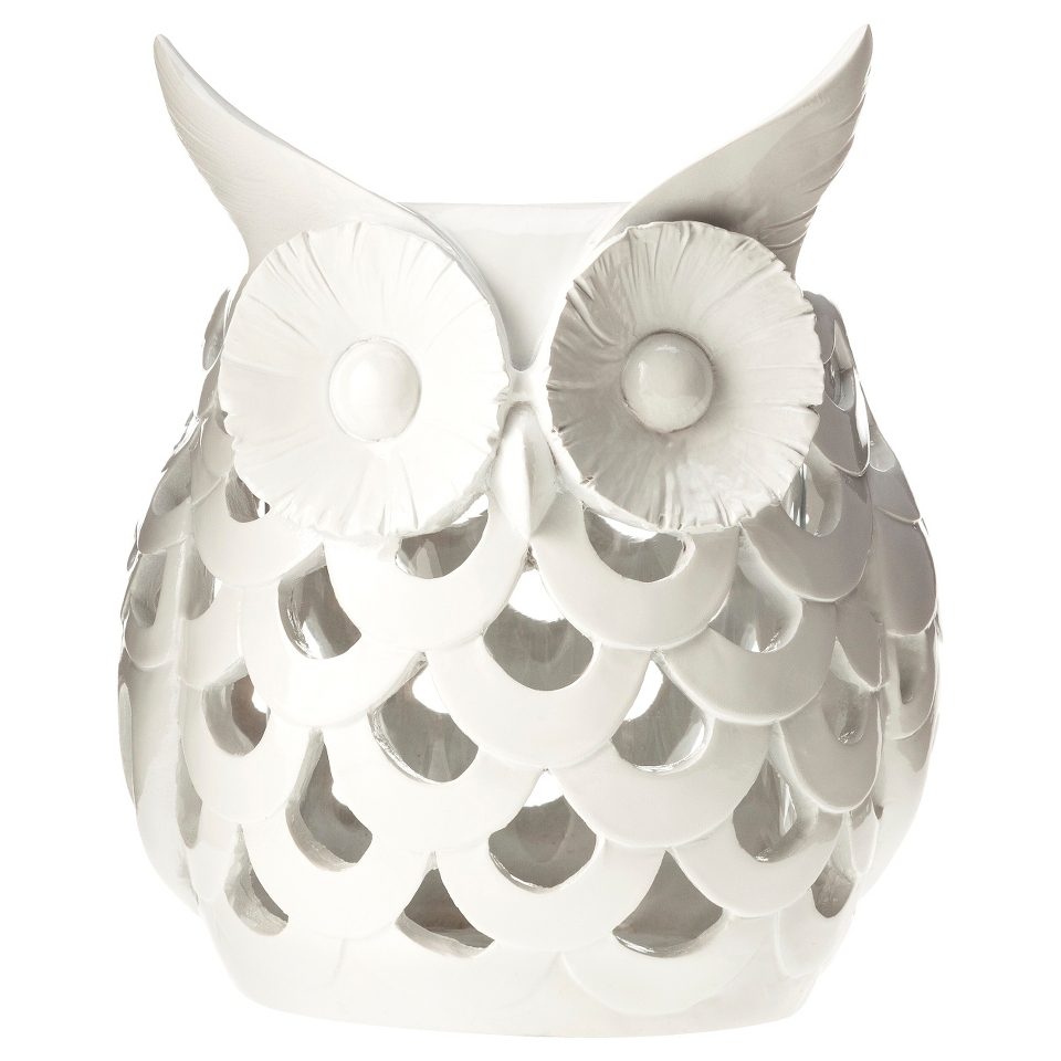 White Owl Candle Holder by Torre & Tagus