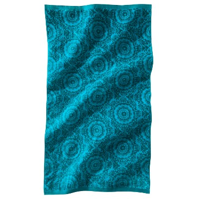 Lux Velour Medallion Beach Towel - Blue