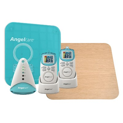 Angelcare Deluxe Movement and Sound Baby Monitor with Wood Support Board - AC401-2P