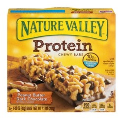 Nature Valley™ Peanut Butter Dark Chocolate Protein Chewy Bars - 5ct