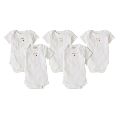 Burts Bees Baby™ Newborn 5 Pack Short Sleeve Bodysuits - Cloud 18 M
