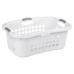 Sterilite® 1.5 Bu. Hip Hold Laundry Basket - White