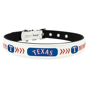 Texas Rangers Classic Leather Medium Baseball Collar