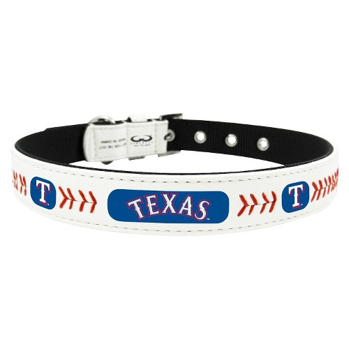 Texas Rangers Classic Leather Medium Baseball Collar