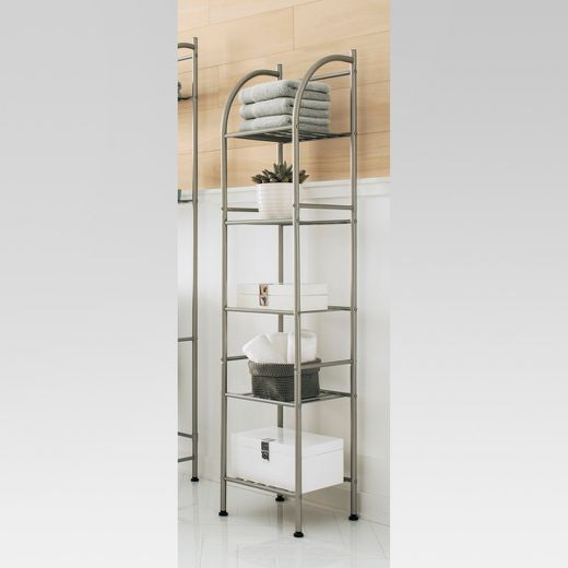 Metal Towel Tower Brushed Nickel - Threshold™
