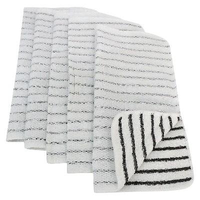 5pk Black Striped Dish Cloth Scrubber - Room Essentials™