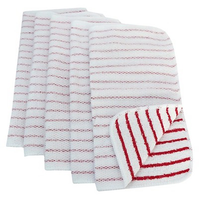 5pk Red Striped Dish Cloth Scrubber - Room Essentials™