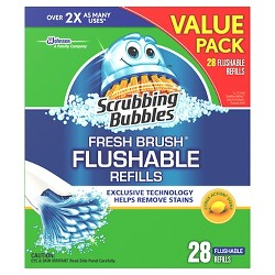 Scrubbing Bubbles Fresh Brush Flushable Refills 28ct