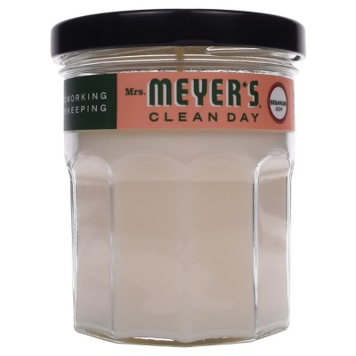 Mrs. Meyer's® Geranium Soy Glass Candle - 4.9oz