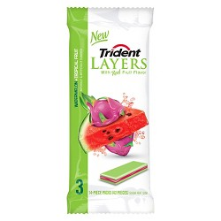 Trident Layers Watermelon and Tropical Fruit Sugar-Free Gum - 42ct