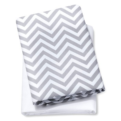 Circo™® 2pk Play Yard Sheets - White/Gray Chevron
