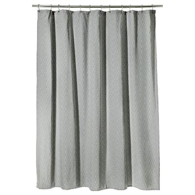 Chevron Shower Curtain Gray - Threshold™