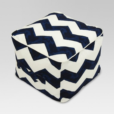 Outdoor Fabric Pouf - Navy - Threshold™