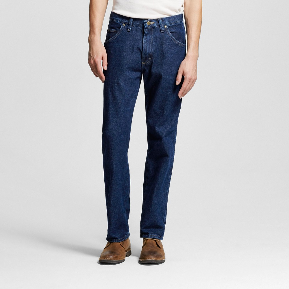 Wrangler Mens 5-Star Regular Fit Jeans - Rinse 34x29, Midnight Blue