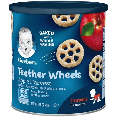 Gerber Graduates Wagon Wheels Apple Harvest 1.48 oz