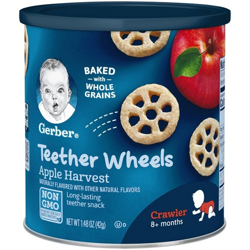 Gerber Wagon Wheels, Apple Harvest, -1.48oz - image 1 of 5