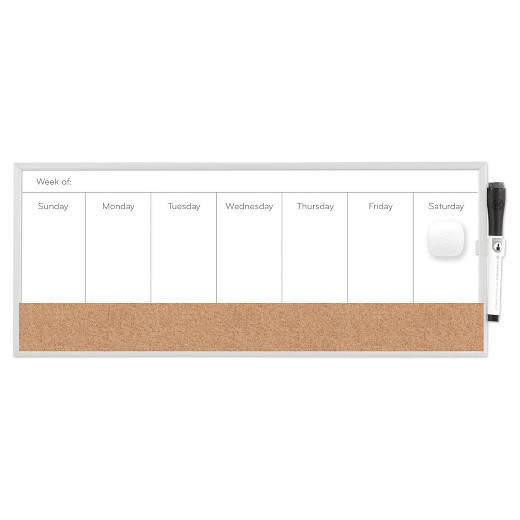 Dry Erase Calendar Target : Ubrands magnetic dry erase weekly planner quot x white