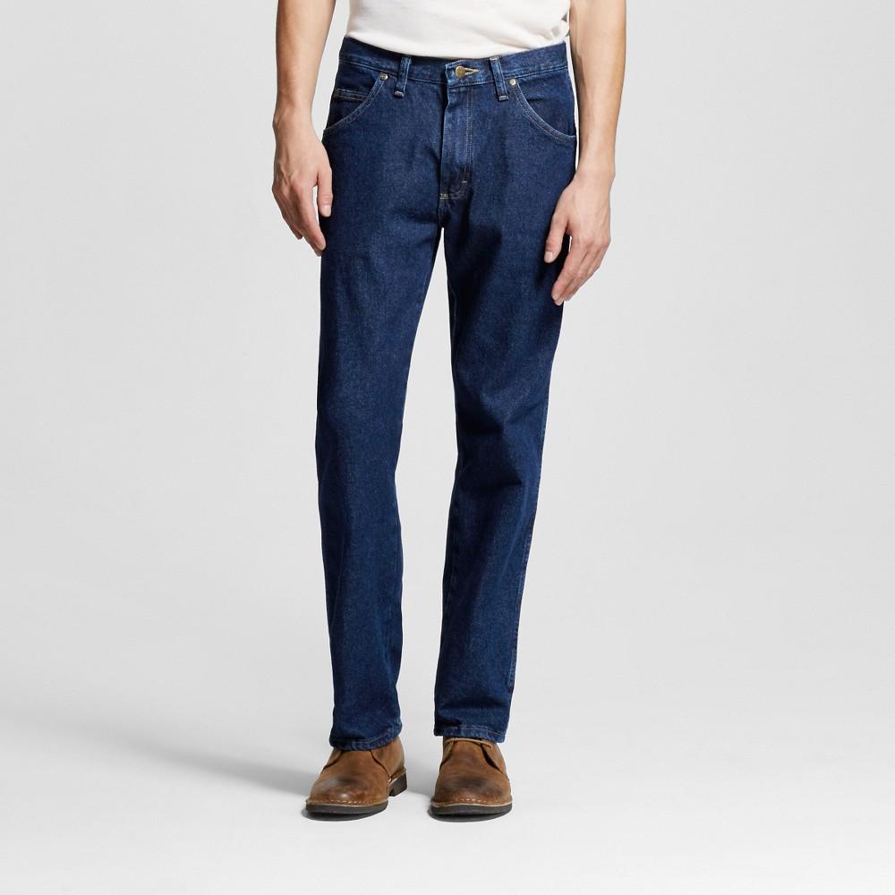 Wrangler Mens 5-Star Regular Fit Jeans - Rinse 40X30, Midnight Blue