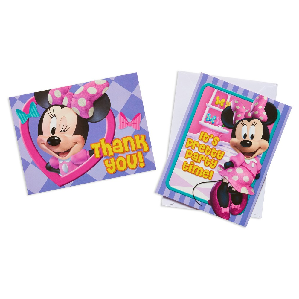 16 ct Minnie Mouse Invitation and Thank You Card Kit