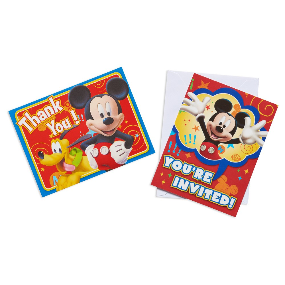 Mickey Mouse Invitation and Thank You Card Kit 16 Count