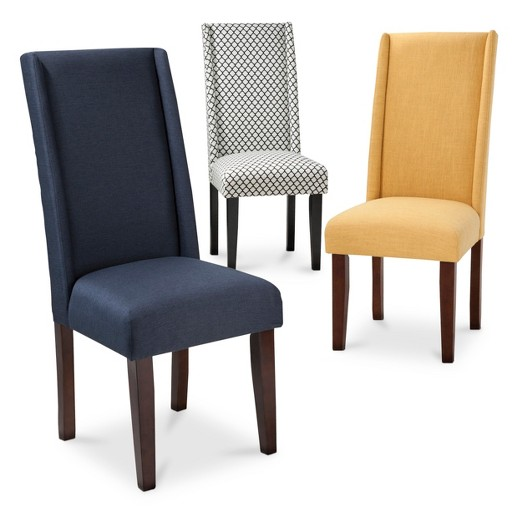 Charlie Modern Wingback Dining Chair Collection Tar