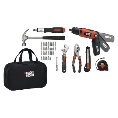 Black and decker 59-piece home project kit