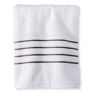 luxury stripe accent bath towels fieldcrest - Red And Black Print Bath Towels
