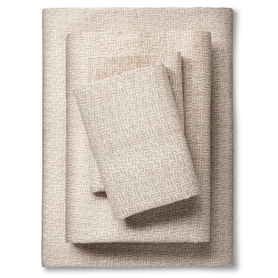 Sheet Set (California King)Crosshatch Gray 300 Thread Count - Nate Berkus™