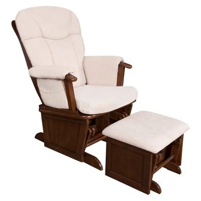 Eddie bauer langley wooden glider white target for Outdoor furniture langley