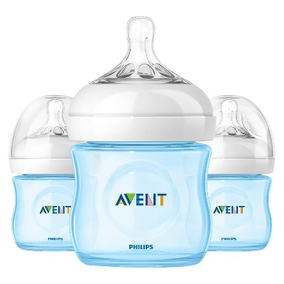 Philips Avent SCF690/39 NATURAL 4oz, 3pk Blue Bottle