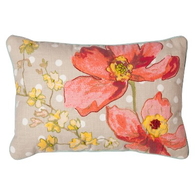Floral Print Lumbar Pillow (12 x18 )- Threshold™