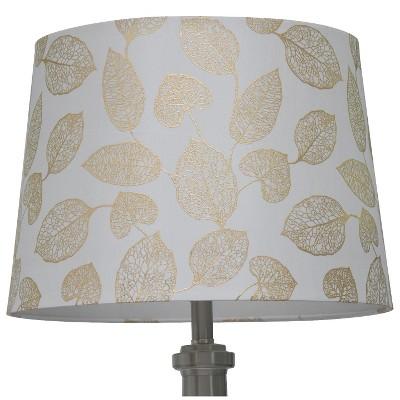 Threshold™ Metallic Foil Leaf Lamp Shade Large - Shell/Gold